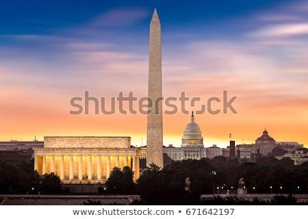 Washington DC manzara ABD bulut mavi gökyüzü Bina Stok fotoğraf © ShustrikS