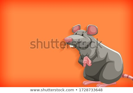 Background template with plain color and gray mouse Stock photo © bluering