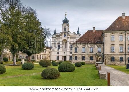 Manastır Almanya kilise gökyüzü seyahat Avrupa Stok fotoğraf © borisb17
