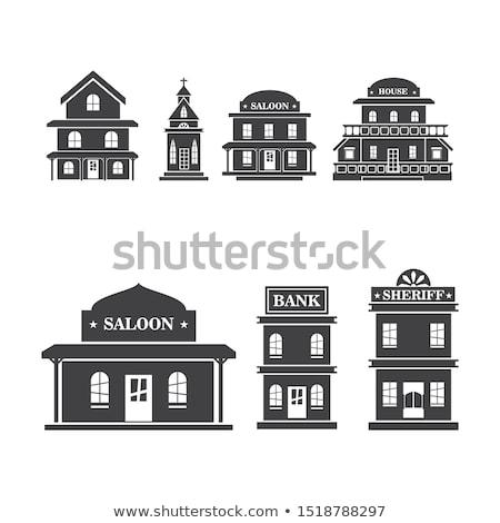 Ocidente vetor ícone ilustração modelo de design madeira Foto stock © Ggs