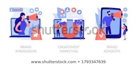 Sławna mediów zaręczynowy streszczenie wektora Zdjęcia stock © RAStudio