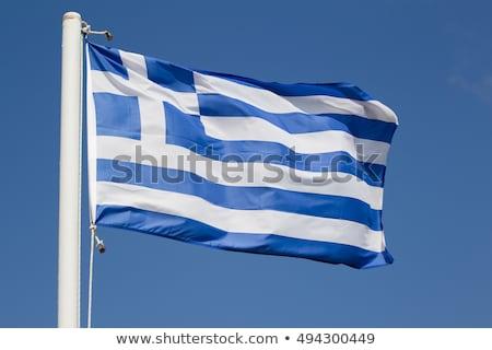 Grecki banderą Błękitne niebo podróży polityka charakter Zdjęcia stock © Anneleven
