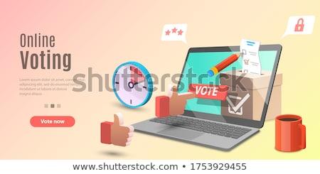 Eletrônico votação aterrissagem página on-line eleições Foto stock © RAStudio