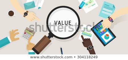 Rentable établissement des prix stratégie vecteur métaphore prix Photo stock © RAStudio