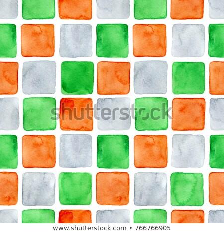 Indiai nagy köteg kockák zászló narancs Stock fotó © HerrBullermann