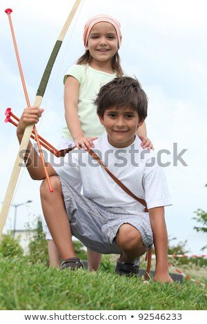 Children pretending to be Robin Hood Stock photo © photography33