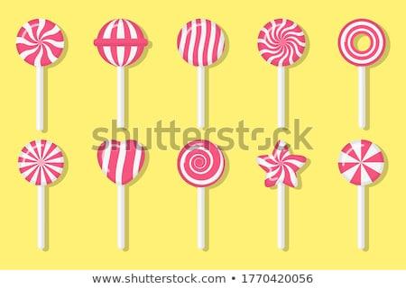 heart from lollipop canes Stock photo © ozaiachin