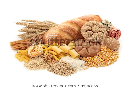 Arrangement of white and brown rice Stock photo © zhekos
