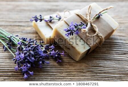 Lavender Soap And Decoration Stock fotó © almaje