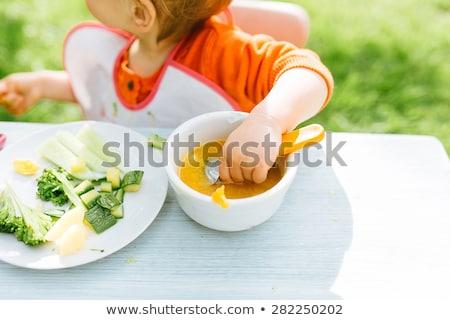 девочку · еды · обед · детский · сад · Hispanic · женщины - Сток-фото © photography33