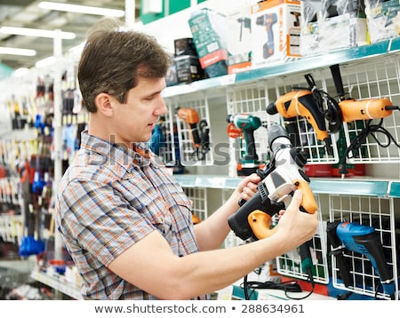 Man with an electrical sander Stock photo © photography33