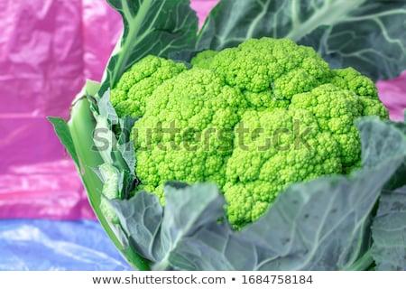 Friss zöld karfiol kert egészség háttér Stock fotó © juniart