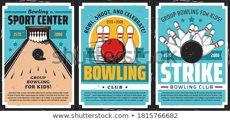 bowling · 3d · render · kavram · 3D · yalıtılmış · vermek - stok fotoğraf © ozaiachin