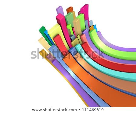3D 長方形の 虹 色 白 ストックフォト © Melvin07