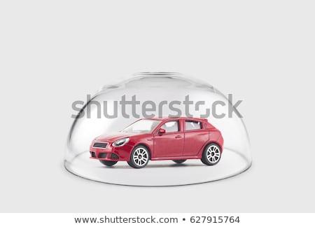 Auto verzekering geïsoleerd witte vrouw achtergrond Stockfoto © fantazista