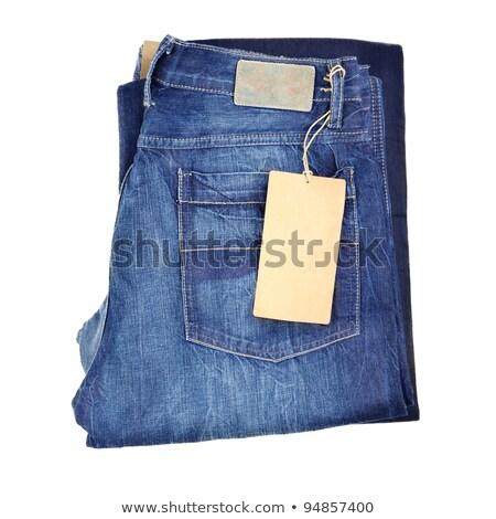 Pliées nouvelle jeans sombre bleu clair Photo stock © zhekos