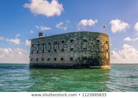 Fort Francja morza budowy krajobraz architektury Zdjęcia stock © ivonnewierink