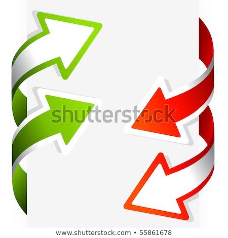 Arrow Wrap Banners Stockfoto © solarseven