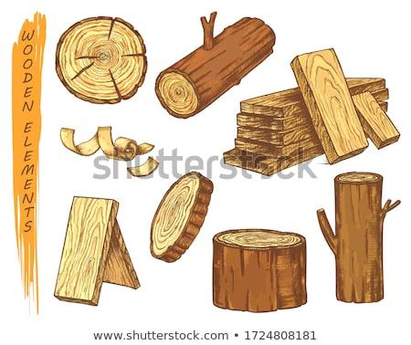 Fából készült darabok tölgy borászat fehér izolált Stock fotó © deyangeorgiev