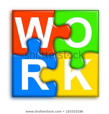 rompecabezas · proyecto · piezas · del · rompecabezas · reflexión · negocios · resumen - foto stock © make