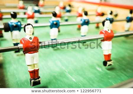 Old and rundown soccer table game Stock photo © franky242