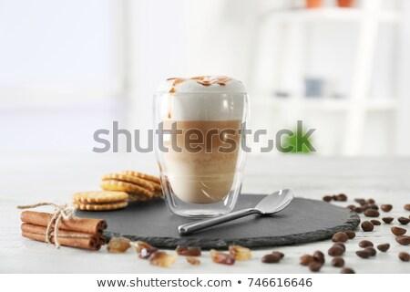 latte macchiato with cinnamon sticks Stock photo © Rob_Stark