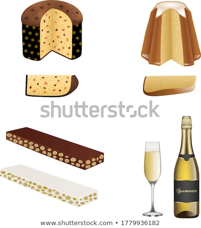 Panettone and Spumante for Christmas Stock photo © aladin66