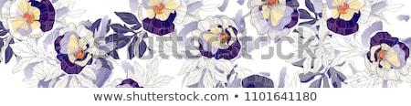 virágmintás · ibolya · végtelen · minta · klasszikus · virágok · arany - stock fotó © ray_of_light