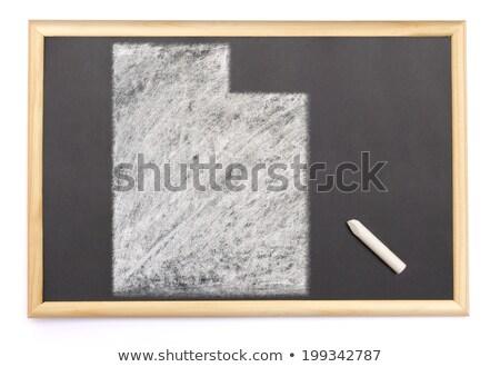 地図 ユタ州 黒板 図面 黒板 ストックフォト © vepar5