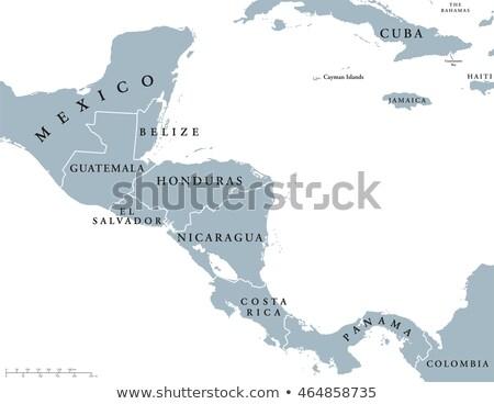 Szürke Belize térkép vidék rajz illusztráció Stock fotó © Volina