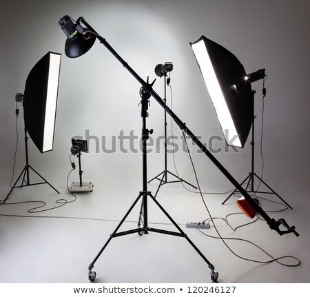 Studio background with large softbox Stock photo © konradbak