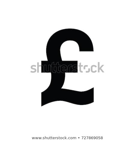 Libra símbolo dourado isolado branco 3d render Foto stock © Koufax73