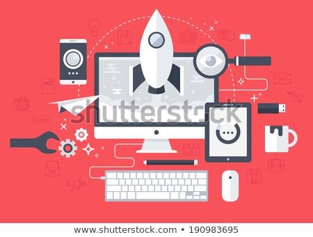 Business Essentials on Digital Background. Stock photo © tashatuvango