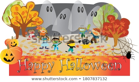 Background group autumn  leaves in Indian Summer Stock photo © meinzahn
