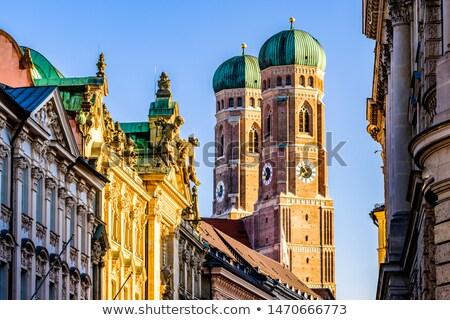 Torony híres München katedrális égbolt város Stock fotó © meinzahn