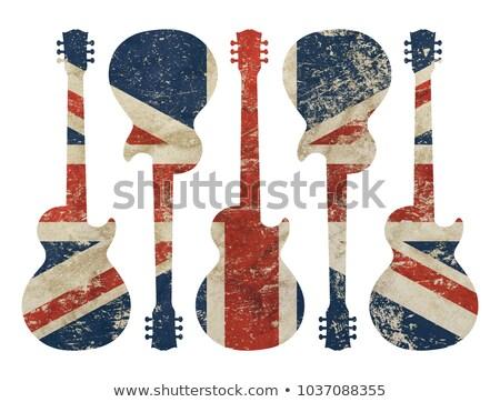 гитаре · аудио · изолированный · белый · музыку · фон - Сток-фото © koufax73