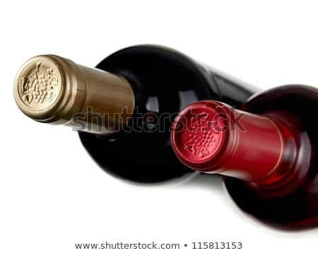 wine glass full with grapes and two wine bottles  Stock photo © natika