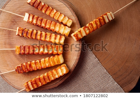 fried curd cheese stock photo © makse
