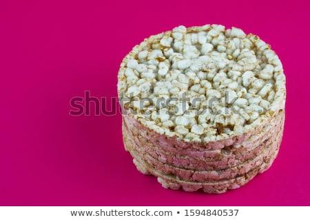 Bolo amêndoa baunilha prato tabela Foto stock © Kayco