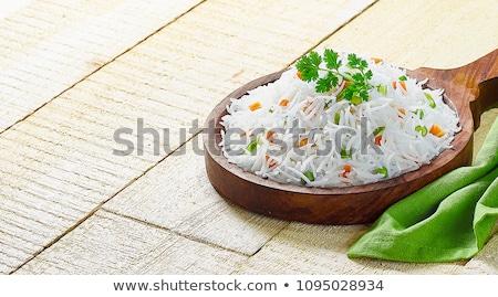 バスマティ米 コメ 背景 中国語 料理 ストックフォト © andreasberheide