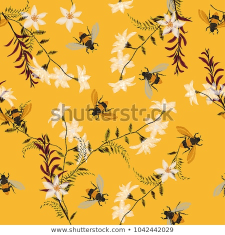 Seamless pattern with bees Stock photo © elenapro