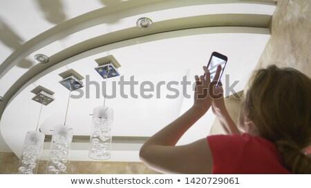 写真 雨 画像 シニア 女性 ストックフォト © tab62
