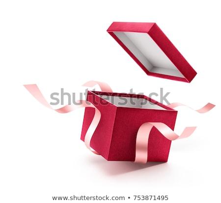 Beyaz hediye kutusu kutu Noel paket Stok fotoğraf © dezign56