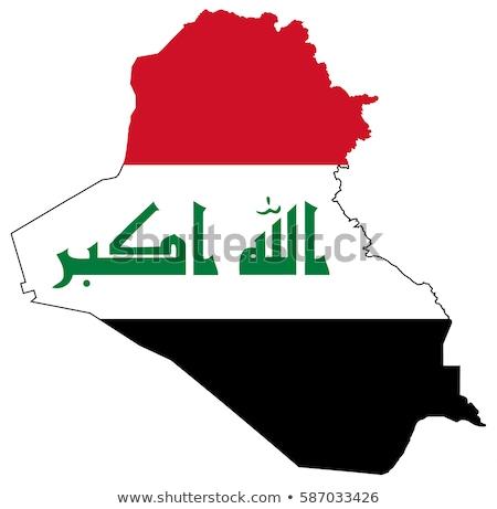Siluet harita Irak imzalamak beyaz Stok fotoğraf © mayboro