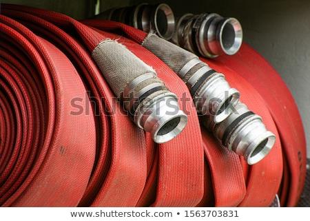 Water hose  Fire Hose with couplings Stock photo © Klinker
