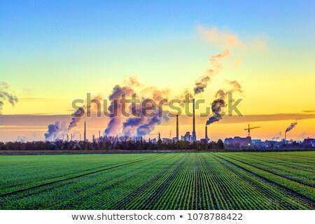 Fabrika duman park gökyüzü Bina manzara Stok fotoğraf © FOKA