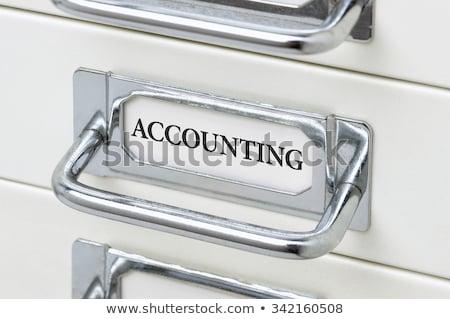 mappa · címke · könyvvizsgálat · üzlet · pénz · toll - stock fotó © zerbor