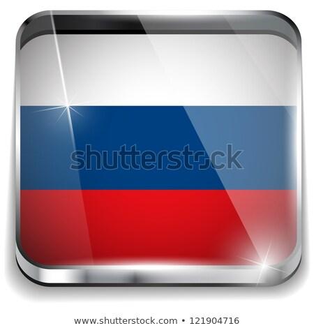 Россия · флаг · кнопки · вектора · стекла - Сток-фото © gubh83