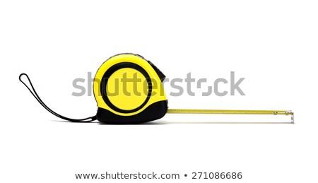 plastic · heerser · stencil · Geel · geïsoleerd · witte - stockfoto © tetkoren