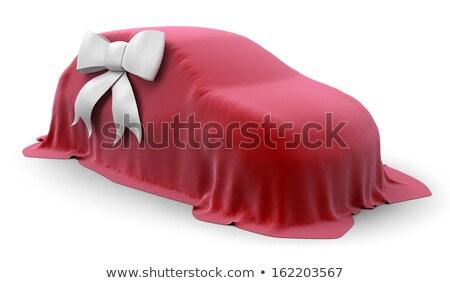 красный автомобилей белый лента таблице Сток-фото © AlisLuch